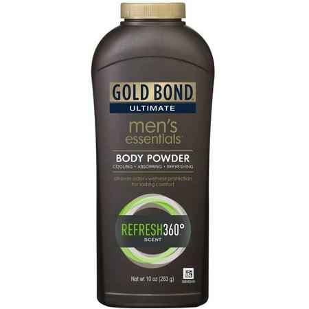 3 Pack - Gold Bond Ultimate Men's Essentials Body Powder, Refresh 360 10