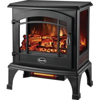 Comfort Glow EQS5140 Compact Thermostatic Electric Stove With Infrared Quartz, 4600 BTU, 700 sq-ft,