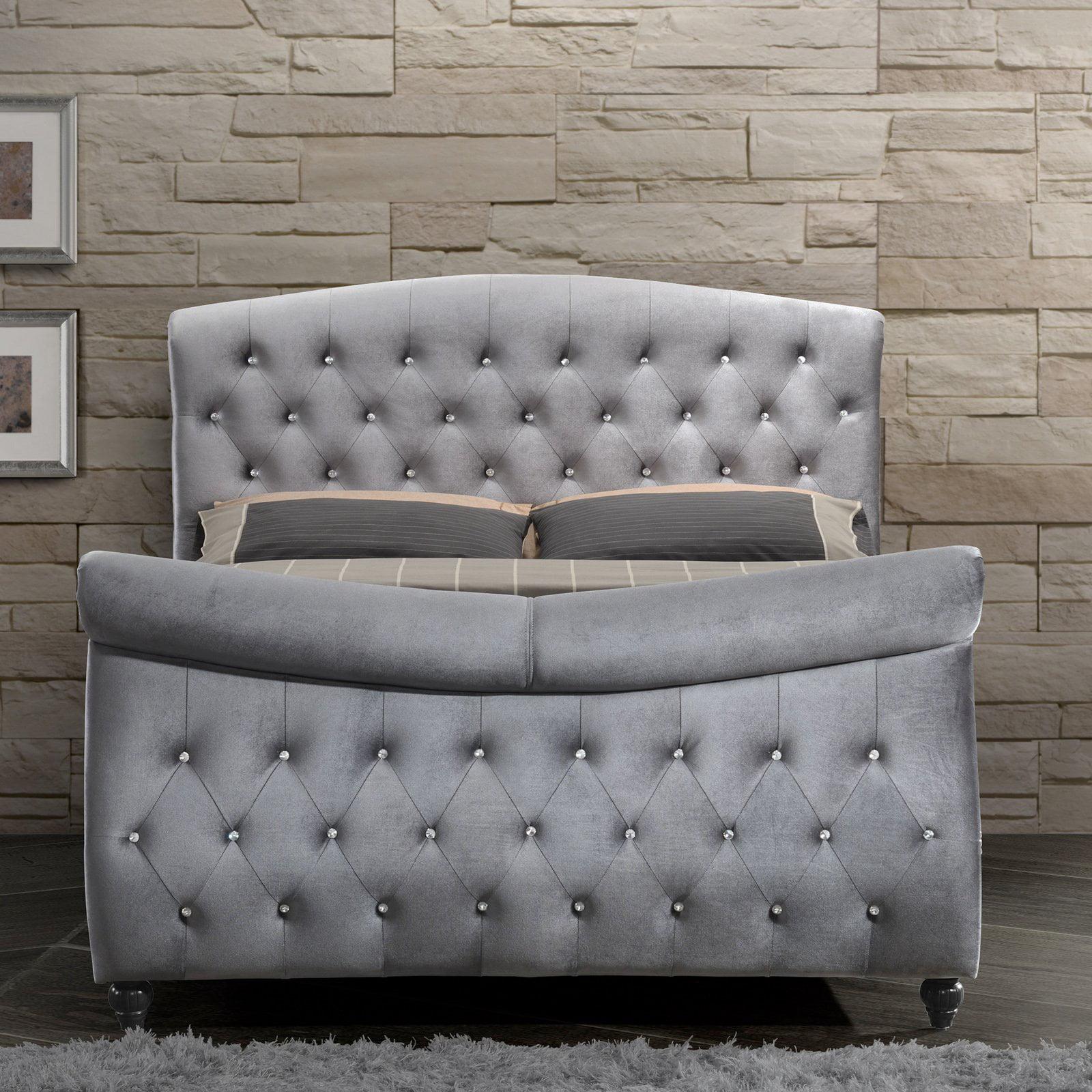 Meridian Hudson Upholstered Sleigh Bed