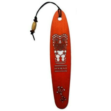 Wood Bookmark Happy Tiki