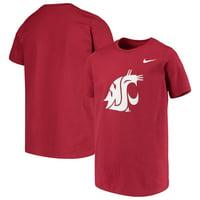 Washington State Cougars Nike Youth Cotton Logo T-Shirt - Crimson