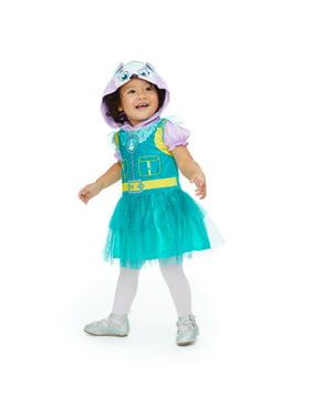 Nickelodeon Paw Patrol Everest Toddler Girls Hooded Costume Dress & Leggings Set Purple 4T
