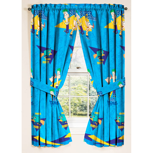 Disneys Phineas and Ferb Window Panels - Drapes