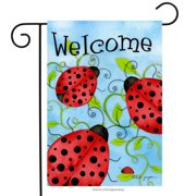 "Ladybug Welcome Garden Flag Spring Critters Insects 12.5"" x 18"""