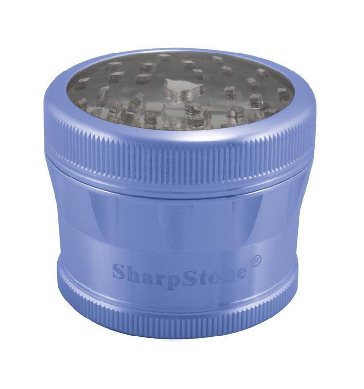 "2.2"" Sharpstone 2.0 4pc Clear Top Grinder - Blue"