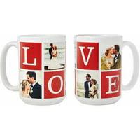 Personalized Love Photo Collage 15 oz Coffee Mug