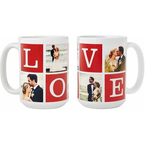 Personalized Love Photo Collage 15 oz Coffee Mug