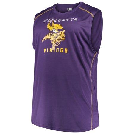 Minnesota Vikings Purple (Men's Majestic Purple Minnesota Vikings Big & Tall Endurance Test Muscle Tank Top )