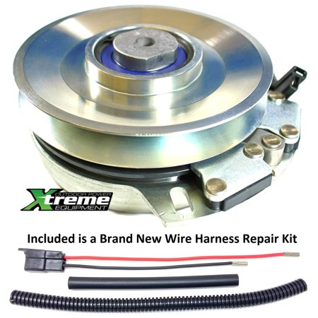Bundle - 2 items: PTO Electric Blade Clutch, Wire Harness Repair Kit   Replaces Craftsman Sears Mower PTO Clutch 539105804 - w/ Wire Harness  Repair Kit