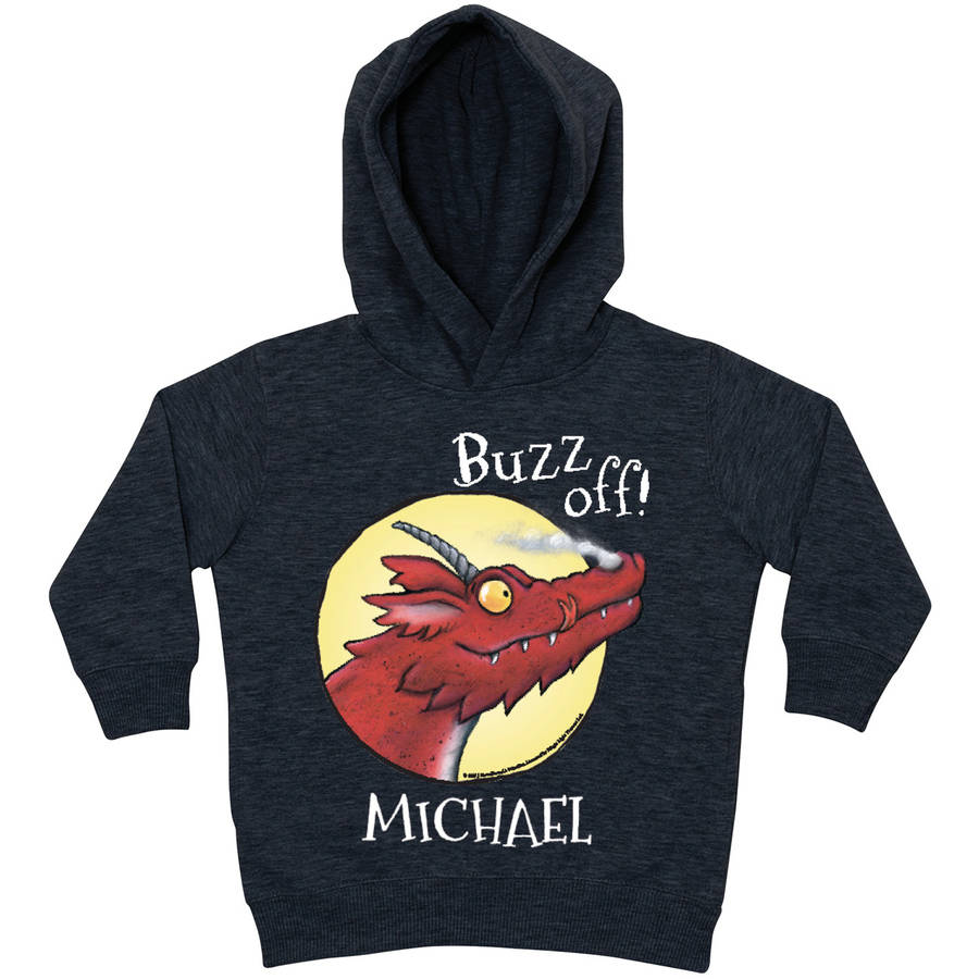 Personalized Room on the Broom Dragon Charcoal Toddler Hoodie