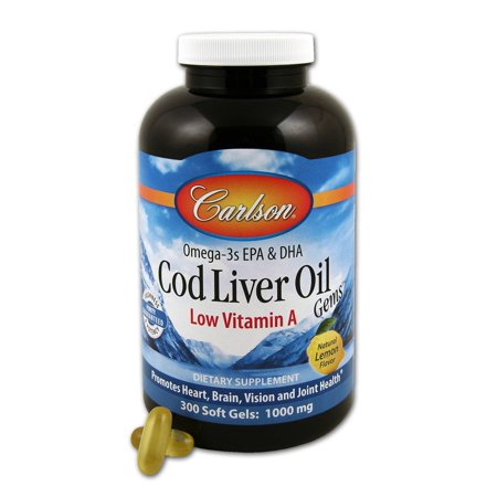 Low a cod liver oil carlson laboratories 300 softgel for Cod fish walmart