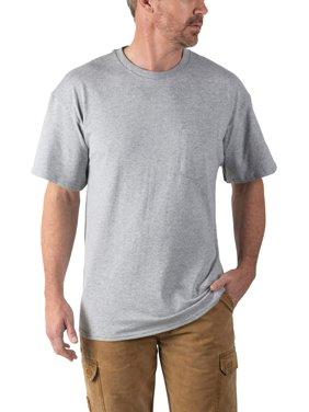 Walls Men's and Big Men's Short Sleeve Pocket Tee, 2-Pack