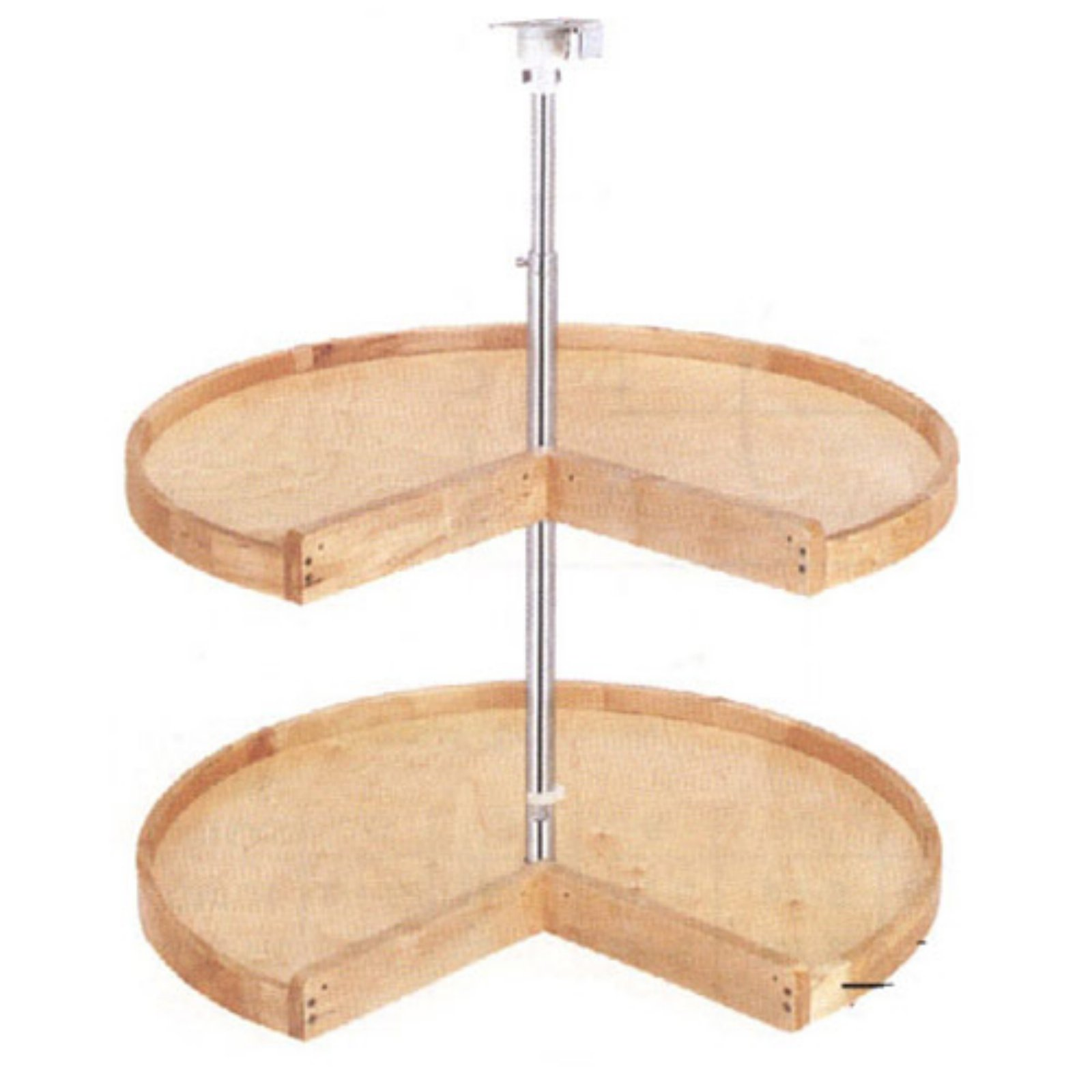 Rev-a-Shelf Wood Pie Cut 2 Shelf Lazy Susan