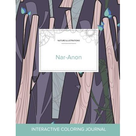 Adult Coloring Journal: Nar-Anon (Nature Illustrations, Abstract Trees) (Paperback) - Palm Tree Coloring Page