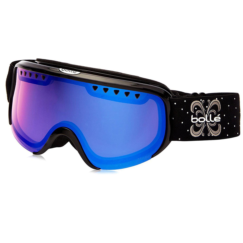 Bolle Scarlett Shiny Black Modulator Winter Ski Goggles w  Vermillion Blue Lens by Bollé