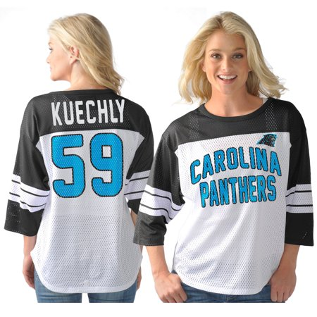 Luke Kuechly Carolina Panthers G-III Sports by Carl Banks Women's Play Action Name & Number T-Shirt - - Kuechly Halloween