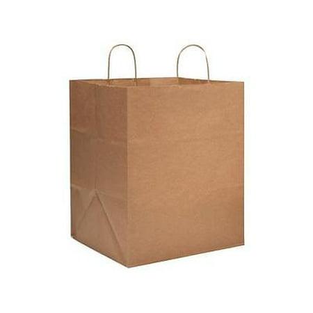 1 Unit Take Out Brown Kraft Paper Bags Mini Pk 14x12x17 Pack 25