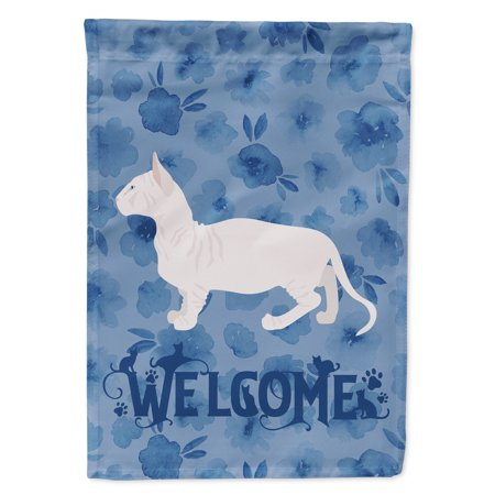 Image of Bambino #2 Cat Welcome Flag Canvas House Size