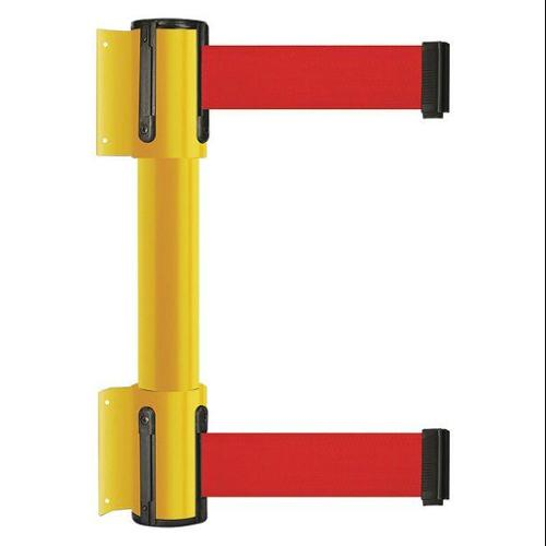 TENSATOR 896T2-35-MAX-R5X-C Belt Barrier, 13 ft, 2 inW, Yellow