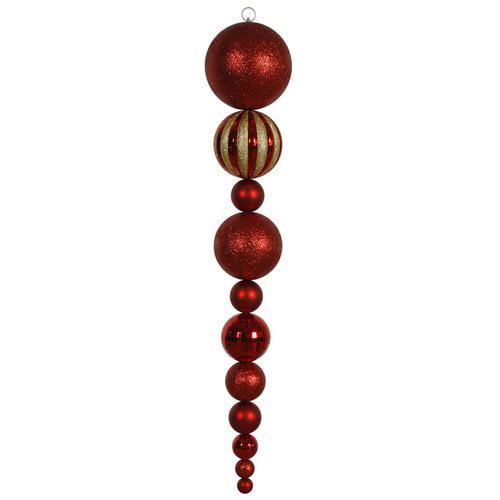 "Vickerman 55"" Red Shiny/Matte Ball Finial Ornament"