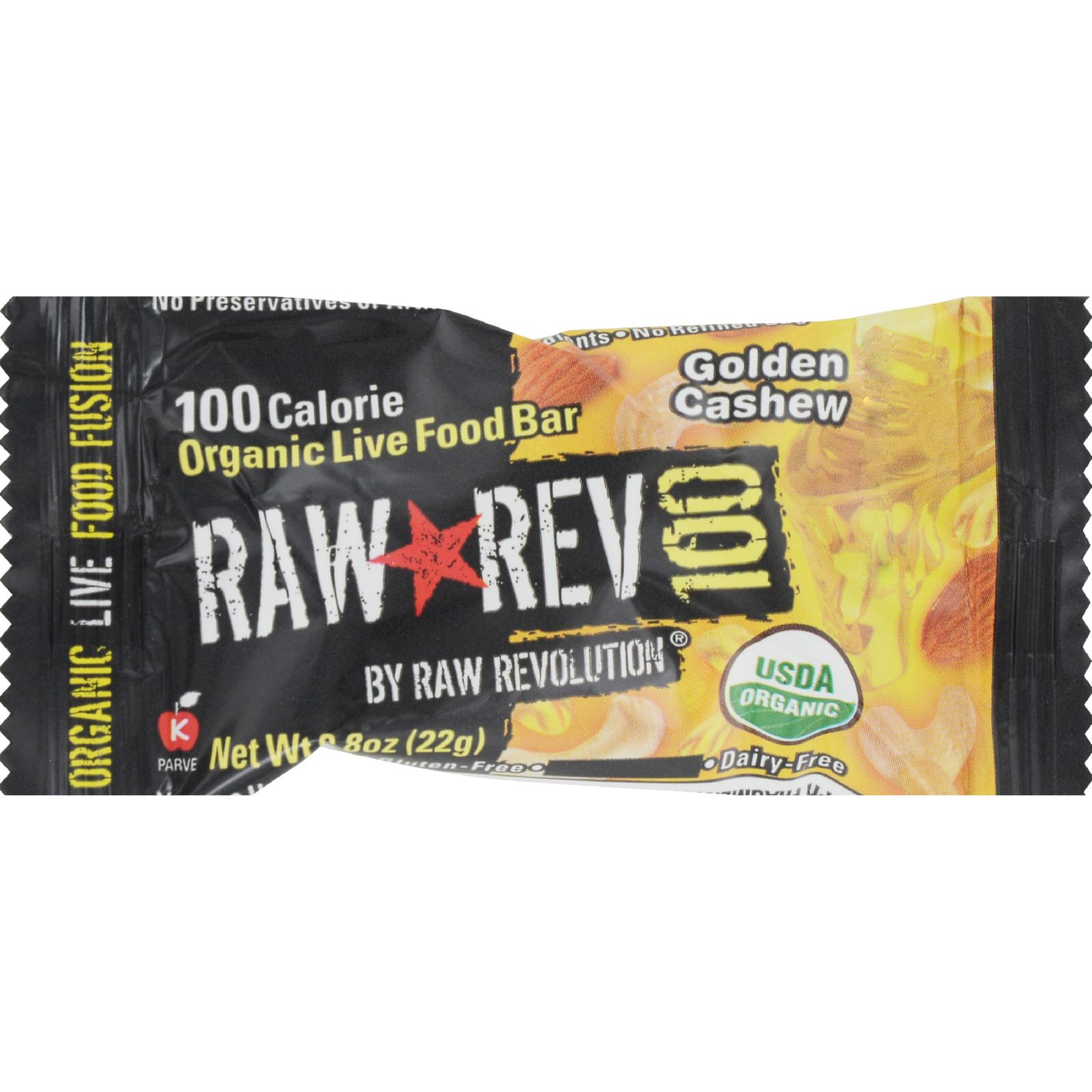 Raw Revolution Bar - Organic Cashew and Agave Nectar - Case of 20 - .8 oz