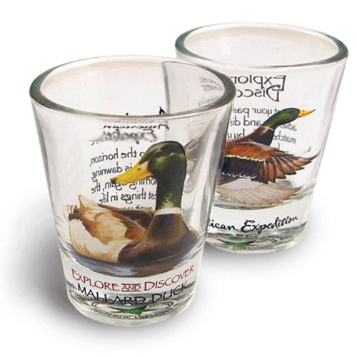 American Expedition Set of 2 Shot Glasses Mallard Duck