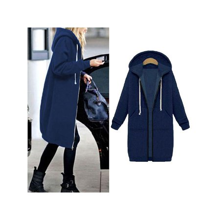 Women Long Sleeve Zipper Sherpa Sweatshirt Soft Fleece Pullover Zipper Outwear Coat Tops Parka Casual Winter Cardigan Jacket with (Fleece Parka)