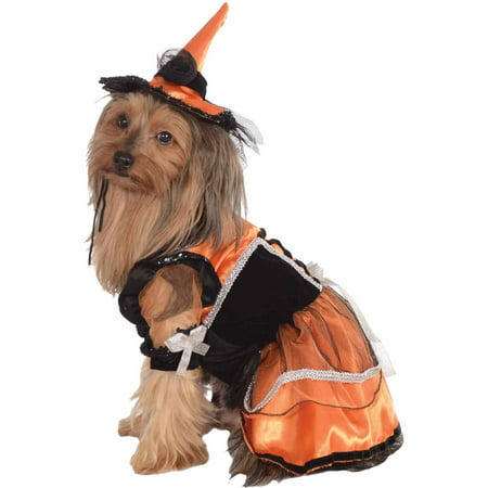 Orange Witch Halloween Pet Costume (Multiple Sizes - Witch Costume For Dogs