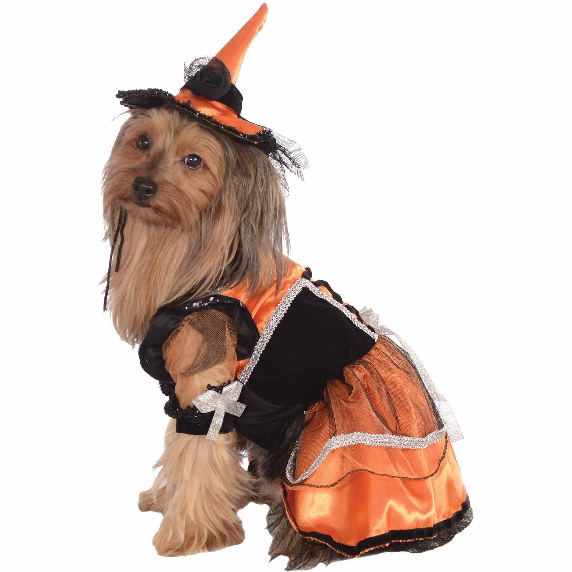Orange Witch Halloween Pet Costume (Multiple Sizes Available)