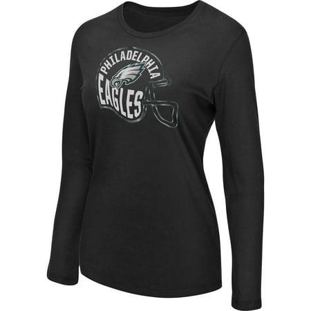 Women's Majestic Black Philadelphia Eagles Turn it Loose Long Sleeve T-Shirt (Philadelphia Eagles Apparel)