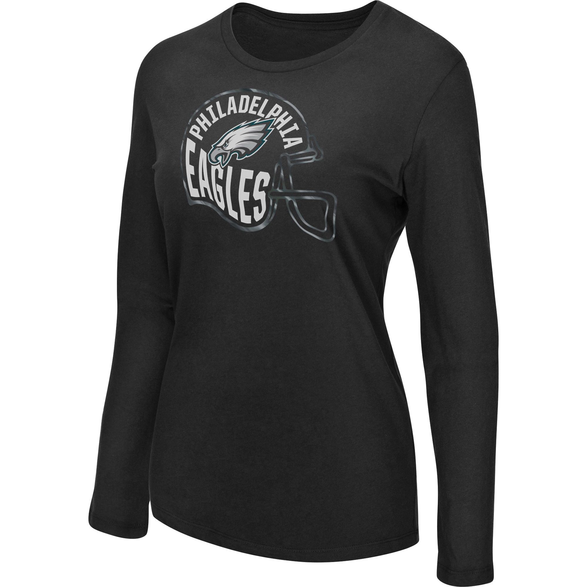 Women's Majestic Black Philadelphia Eagles Turn it Loose Long Sleeve T-Shirt