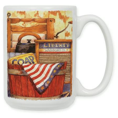 15 Ounce Ceramic Coffee Mug - Wash