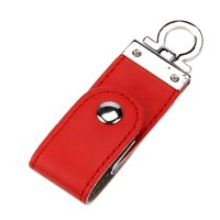 Red USB 3.0 8GB Business fashion Leather Flash Drive Memory Stick U-Disk