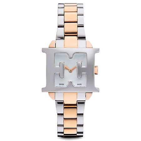 Mother Of Pearl Silver Wrist Watch - NEW WOMENS ESCADA (E2005025) ESTELLE MOTHER OF PEARL SILVER ROSE GOLD TONE WATCH