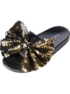 H2K  Slide Slipper with Sequin Bow (Women's)