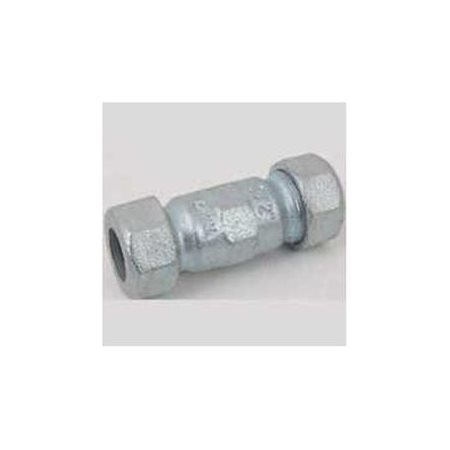 "2"" IPS Malleable Iron Compression Coupling, Long Pattern,..."