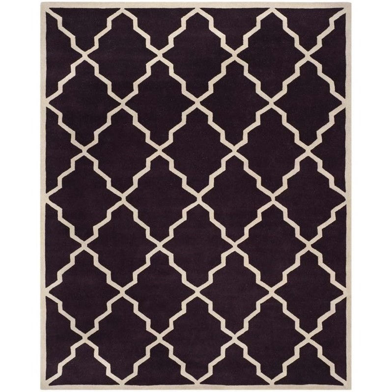 Rectangular Rug in Dark Purple