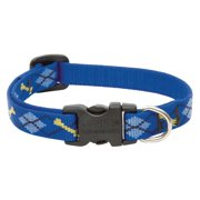 "Lupine Collars and Leads 41833 1/2"" x 6""-9"" Adjustable Dapper Dog Design Dog Collar"