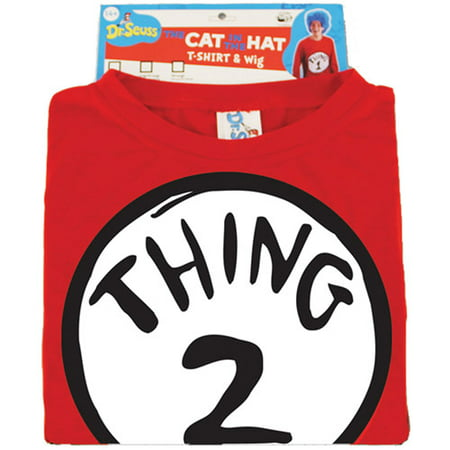 Dr. Seuss Thing 2 Adult Halloween - Thing 1 Thing 2 Halloween Makeup