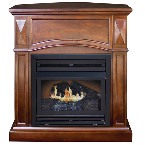 DuraHeat Belmont Compact Freestanding Dual Fuel Gas Fireplace