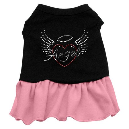 Mirage Pet Products 57-55 XXXLBKPK Angel Heart Rhinestone Dress Black with Pink XXXL - 20