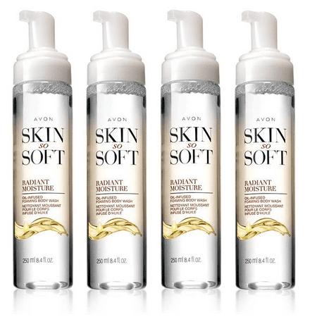 Avon Skin So Soft Radiant Moisture Oil-Infused Foaming Body Wash Lot of