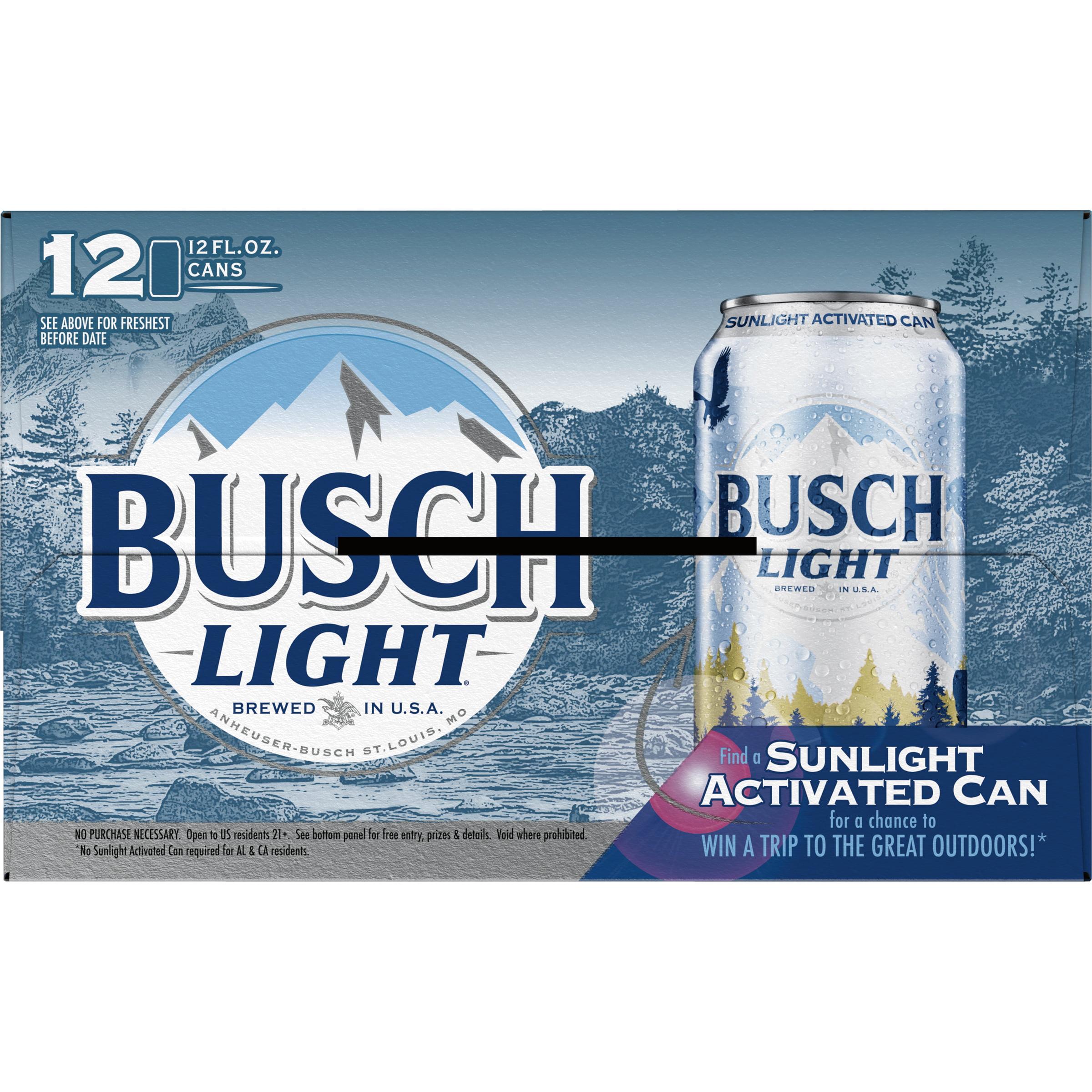 Busch Light® Beer, 12 Pack 12 fl  oz  Cans - Walmart com
