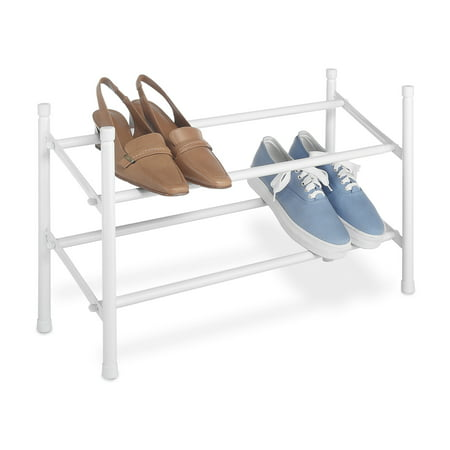 Whitmor 2-Tier Expand / Stack Shoe Rack White