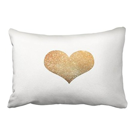 RYLABLUE Decorative Decorative Arts Gold Heart Pillowcase New Design Pillow cover for Sofa Octopus Size 20x30 inches Two Side - image 1 of 1