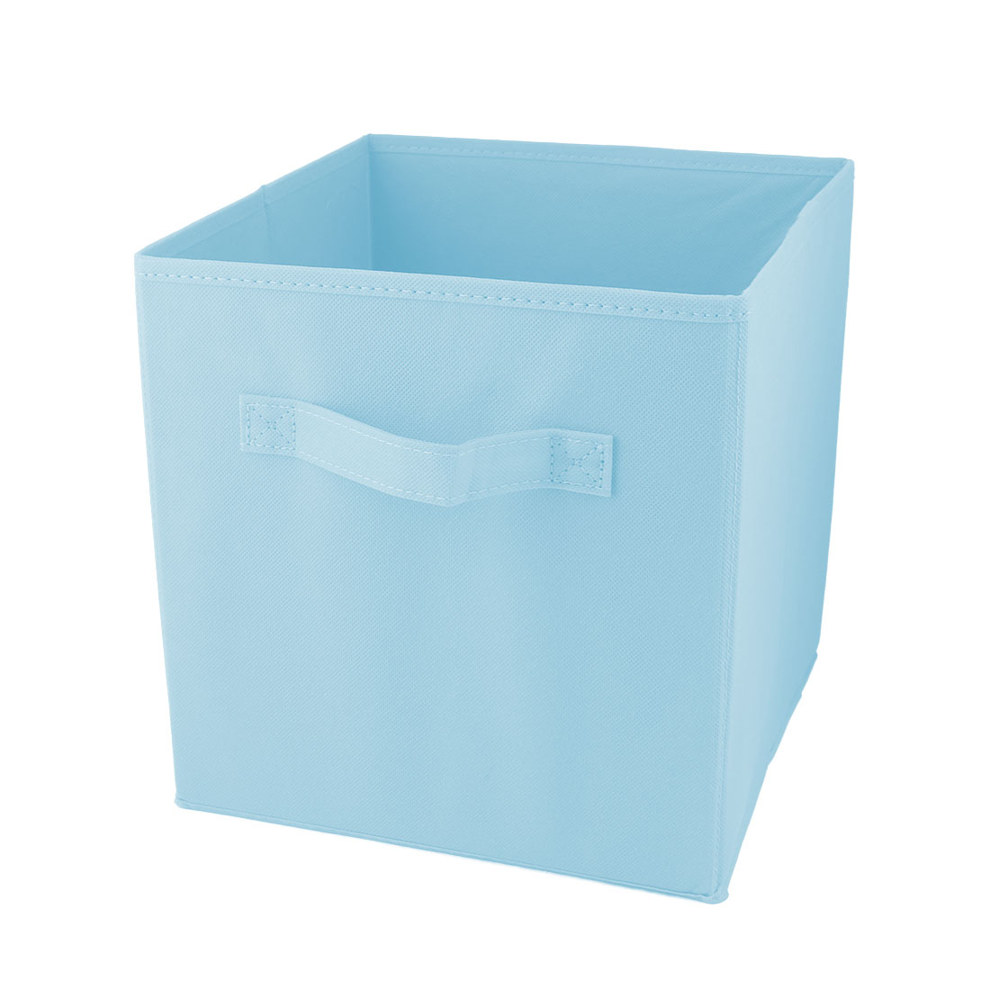 Apartment Non-woven Fabric Foldable Books Cosmetics Holder Storage Box Sky Blue - image 5 of 5