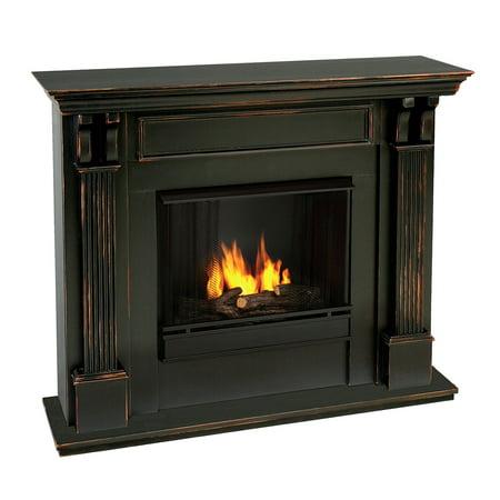 Real Flame Ashley Indoor Gel Fireplace - Black Wash