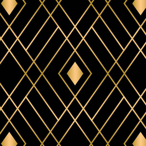 Emma & Mila Cotton Diamonds in Black The Eve Collection Fabric, per Yard