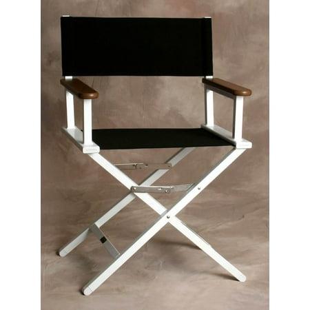 Superb Monterey Director Chair In Jet Black W White Frame Beatyapartments Chair Design Images Beatyapartmentscom
