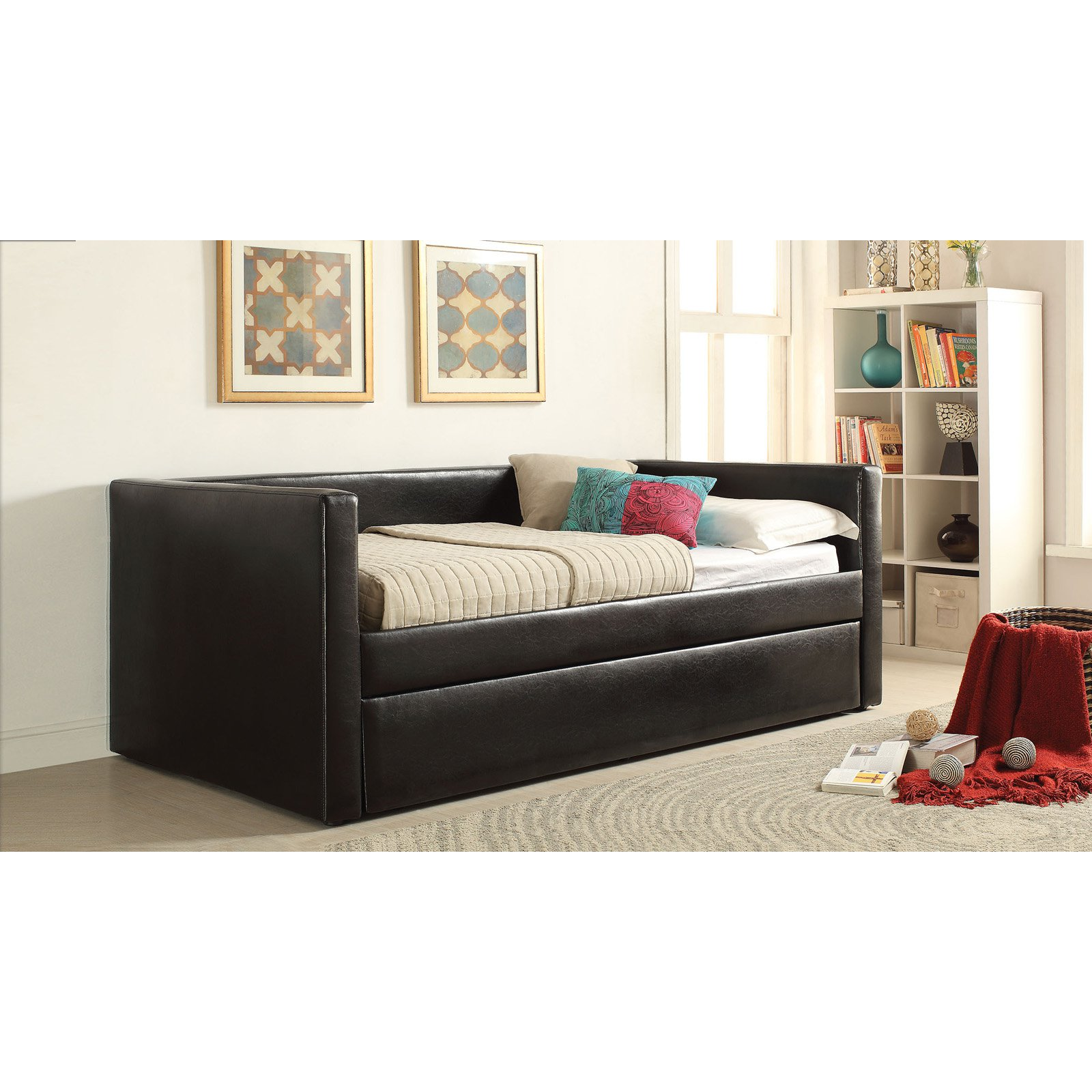 Acme Melbourne Upholstered Day Bed with Trundle